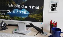 Banner Streikaufruf